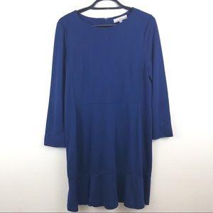 LOFT Blue Swing Dress NWT